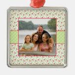 Ornamento de la foto del día de fiesta del navidad adorno de navidad