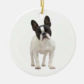 Ornamento de la foto del dogo francés, idea del re ornamentos de navidad