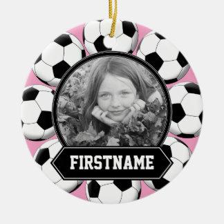 Ornamento de la foto del fútbol para la juventud ornamentos de reyes