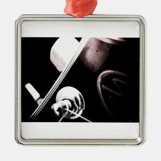 ornamento de la foto del macho adorno navideño cuadrado de metal