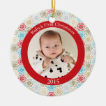 Ornamento de la foto del navidad del bebé de los c ornamente de reyes
