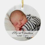 Ornamento de la foto del navidad del | del bebé ornamentos de navidad