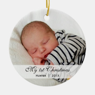 Ornamento de la foto del navidad del | del bebé pr ornamentos de navidad