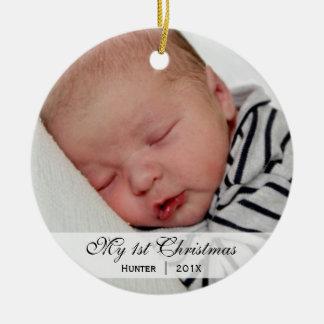 Ornamento de la foto del navidad del | del bebé pr ornaments para arbol de navidad
