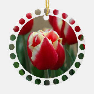 Ornamento de la foto del tulipán adorno