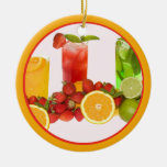 Ornamento de la fruta tropical ornamentos de navidad