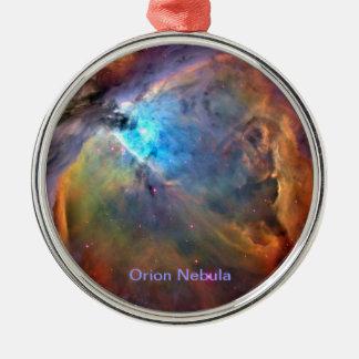 Ornamento de la galaxia del espacio de la nebulosa adorno navideño redondo de metal