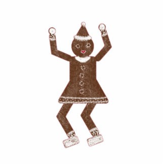 Ornamento de la galleta del navidad de Martzkin Escultura Fotográfica