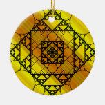 Ornamento de la geometría del fractal adornos de navidad