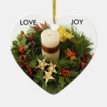 Ornamento de la guirnalda del advenimiento ornamento para arbol de navidad