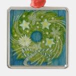 Ornamento de la guirnalda del navidad de la estrel adornos de navidad