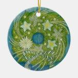 Ornamento de la guirnalda del navidad de la estrel adorno