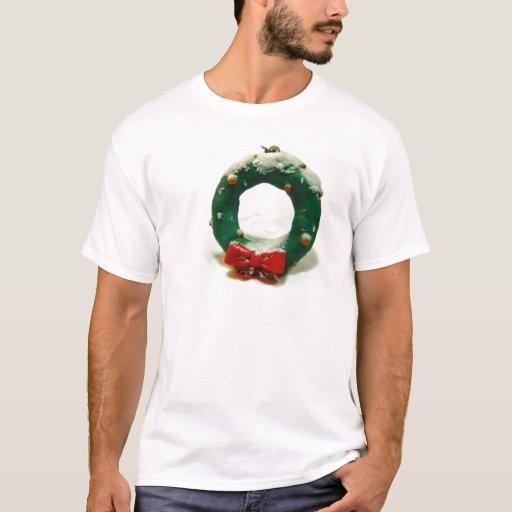 Ornamento de la guirnalda del navidad playera