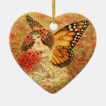 Ornamento de la hada de la mariposa de monarca ornatos