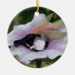 Ornamento de la hada de Papillon Adorno Redondo De Cerámica