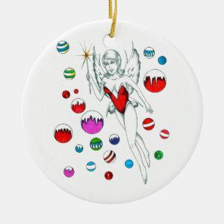 Ornamento de la hada del invierno ornamente de reyes