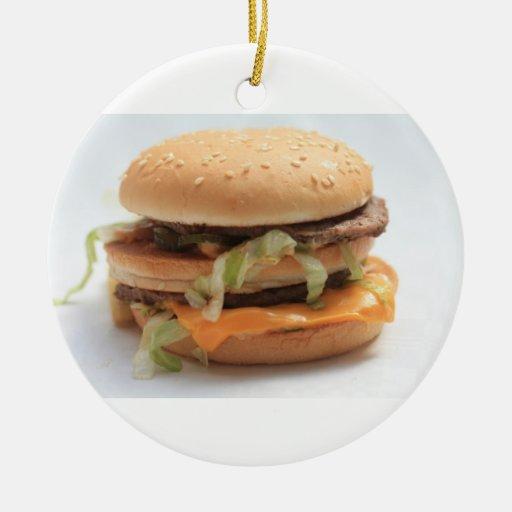 ornamento de la hamburguesa adorno redondo de cerámica