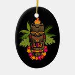 Ornamento de la hawaiana de Tiki Ornamento Para Reyes Magos