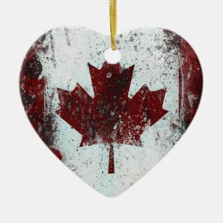 Ornamento de la hoja de arce de Canadá Adorno Navideño De Cerámica En Forma De Corazón