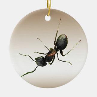 Ornamento de la hormiga ornamentos de navidad