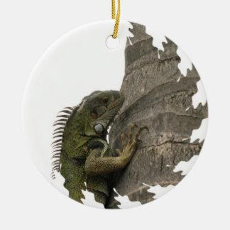 Ornamento de la imagen de la iguana adorno para reyes