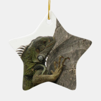 Ornamento de la imagen de la iguana ornamento para arbol de navidad