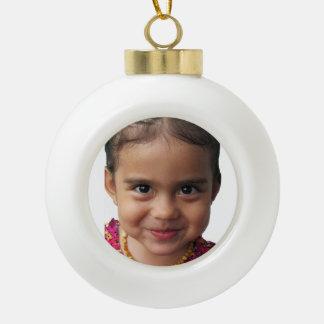 Ornamento de la imagen del bebé adorno de cerámica en forma de bola
