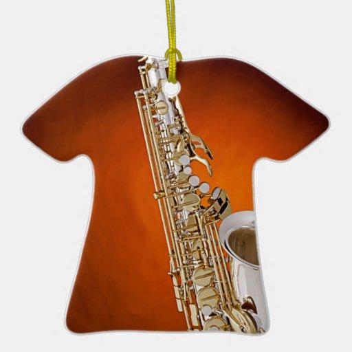 Ornamento de la imagen del saxofón adornos