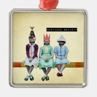 Ornamento de la imagen del vintage de la sociedad ornaments para arbol de navidad