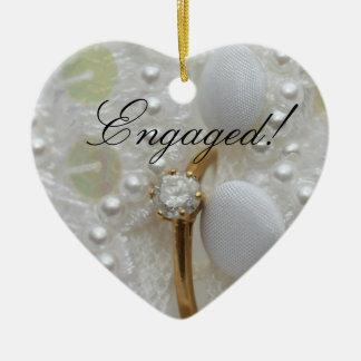 Ornamento de la invitación del compromiso del anil ornato