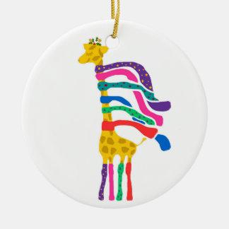 Ornamento de la jirafa del navidad ornamento de reyes magos