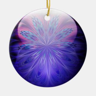 Ornamento de la joya de IceFire Adorno Navideño Redondo De Cerámica