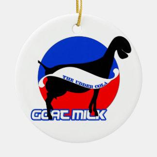 Ornamento de la leche de la cabra ornamentos de navidad