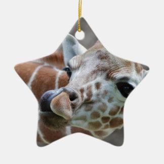 Ornamento de la lengua de la jirafa adorno de reyes