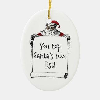 Ornamento de la lista de Santa Adorno De Reyes
