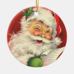 Ornamento de la lista del juguete de Santa Adornos De Navidad