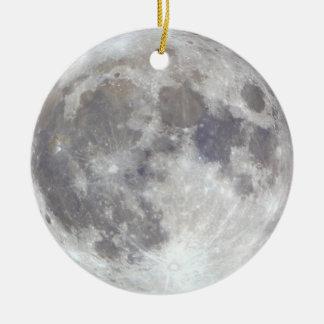 Ornamento de la luna adornos de navidad