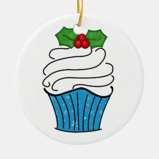 Ornamento de la magdalena adorno navideño redondo de cerámica