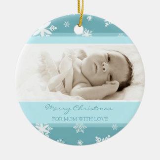 Ornamento de la mamá de las Felices Navidad de la  Ornaments Para Arbol De Navidad