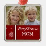 Ornamento de la mamá de las Felices Navidad de la  Ornatos