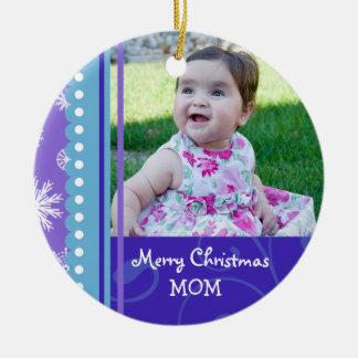 Ornamento de la mamá de las Felices Navidad de la  Adorno Para Reyes
