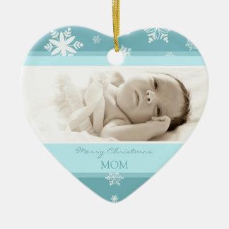 Ornamento de la mamá de las Felices Navidad de la  Ornamento Para Arbol De Navidad