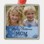Ornamento de la mamá de las Felices Navidad de la  Adornos