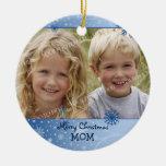 Ornamento de la mamá de las Felices Navidad de la  Ornamente De Reyes