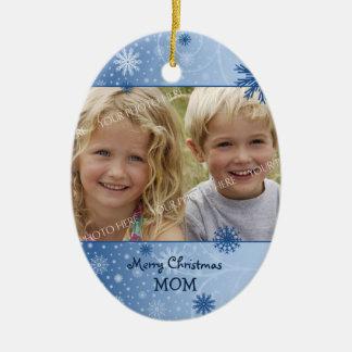 Ornamento de la mamá de las Felices Navidad de la  Adorno De Navidad