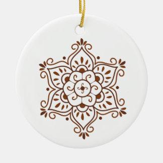 Ornamento de la mandala de la alheña adorno de navidad