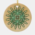 Ornamento de la mandala de la polilla de Luna Ornamento Para Arbol De Navidad