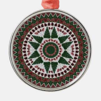 Ornamento de la mandala del navidad del cono del p adornos de navidad
