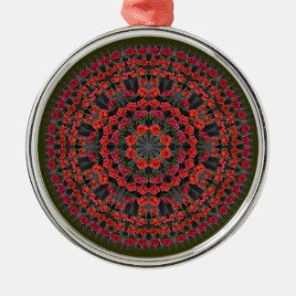 Ornamento de la mandala del navidad del Poinsettia Adorno