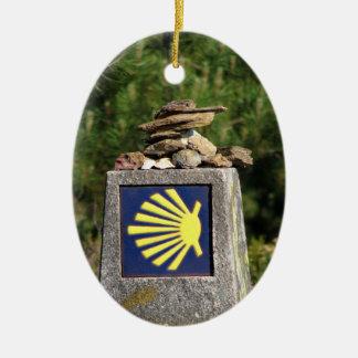 Ornamento de la marca de la manera de Shell Adorno Ovalado De Cerámica